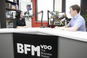 On BFM - independent radio in Malaysia - with presenter Maya Tan Abdullah, recording 2 interviews about social enterprise, impact measurement, strategy, and communications and marketing