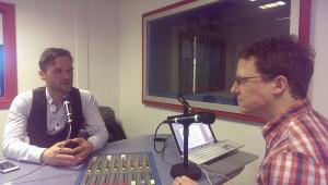 Johnny Pawlik in Sheffield Live radio studio