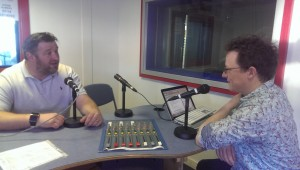 Dan Cluderay in the Sheffield Live radio studio