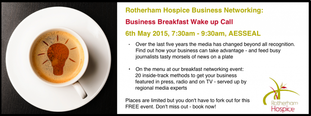 Rotherham Hospice Business Breakfast, 6th May