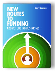 Image of The cover of Barry James' 'New Routes to Funding' book