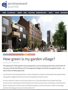 Image from Environment Journal article: how green is my garden village