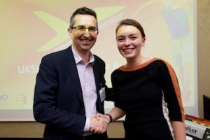 Photo of Mihaela with Keith from UKSE