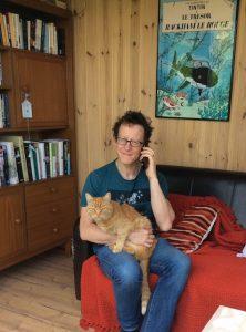 Photo of Jamie and cat