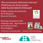Accountant with heart and soul PLUS Dom the Pack Leader – new radio show interviews