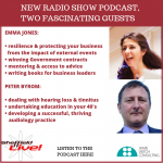 Emma Jones, SME Crown Representative and Peter Byrom, audiologist – new podcast