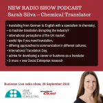 Translation stations – interview with Sarah Silva the Chemical Translator