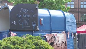 Photo of gin stall at food festival