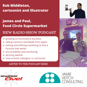 Business Live radio show 05102018 image of guests Rob, James and Paul