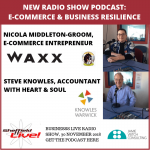 Podcast: building an e-commerce retail website with Nicola of Waxx plus business resilience
