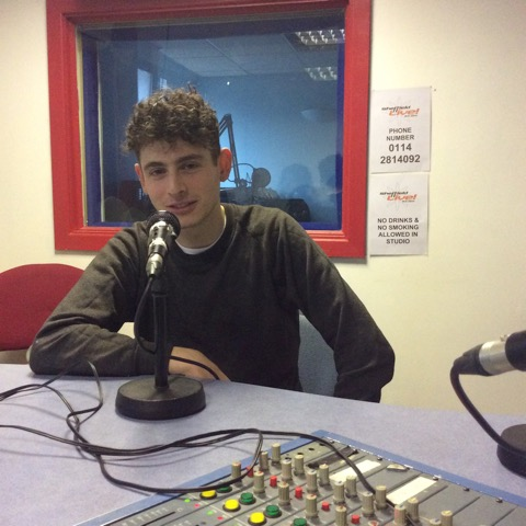 Photo of Isaac Tendler of Foodhall in the Sheffield Live radio studio