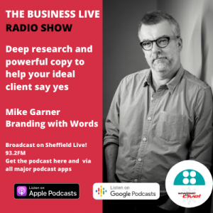 Mike Garner on the Business Live radio show with Jamie Veitch