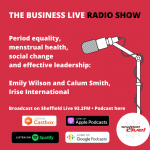 Period equality, menstrual health and social change: Emily Wilson and Calum Smith, Irise